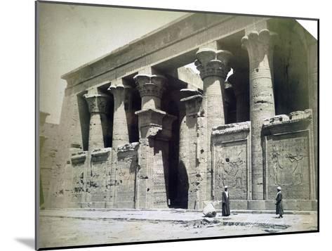 Temple Facade, Edfu, Egypt, 19th Century- Langaki-Mounted Giclee Print