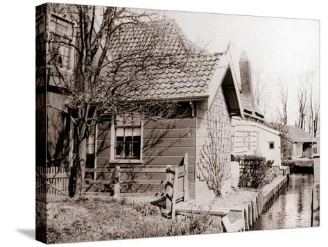 House on a Canal Bank, Broek, Netherlands, 1898-James Batkin-Stretched Canvas Print