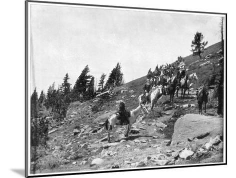 Windy Point, Pike's Peak, Colorado, Late 19th Century-John L Stoddard-Mounted Giclee Print