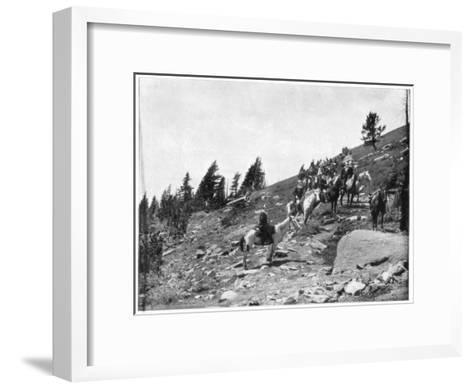 Windy Point, Pike's Peak, Colorado, Late 19th Century-John L Stoddard-Framed Art Print