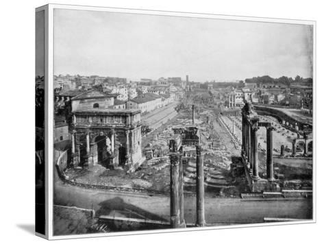 The Forum, Rome, Late 19th Century-John L Stoddard-Stretched Canvas Print