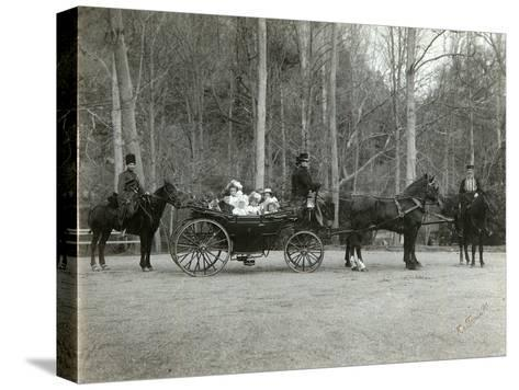 Tsar Nicholas II of Russia with His Family in the Park of Tsarskoye Selo, Russia, 1900s-K von Hahn-Stretched Canvas Print
