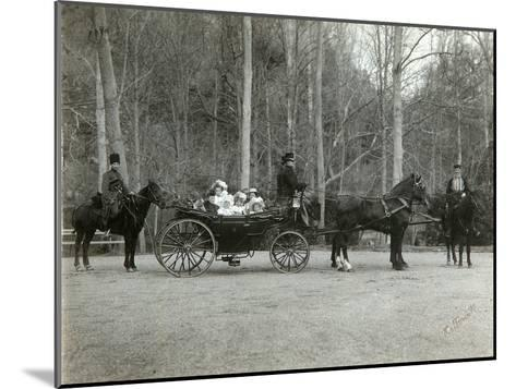Tsar Nicholas II of Russia with His Family in the Park of Tsarskoye Selo, Russia, 1900s-K von Hahn-Mounted Giclee Print
