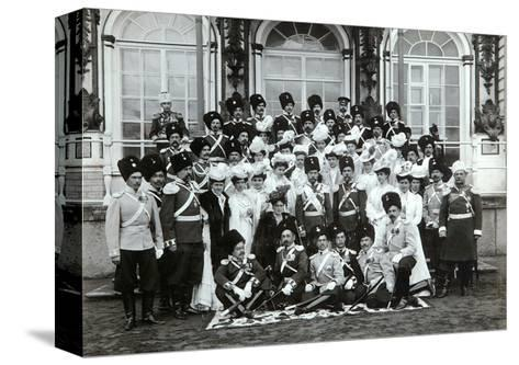 Russian Imperial Family Outside the Catherine Palace, Tsarskoye Selo, Russia, Early 20th Century-K von Hahn-Stretched Canvas Print
