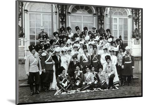 Russian Imperial Family Outside the Catherine Palace, Tsarskoye Selo, Russia, Early 20th Century-K von Hahn-Mounted Giclee Print