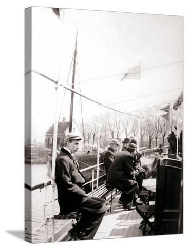 Boat Passengers, Broek, Netherlands, 1898-James Batkin-Stretched Canvas Print