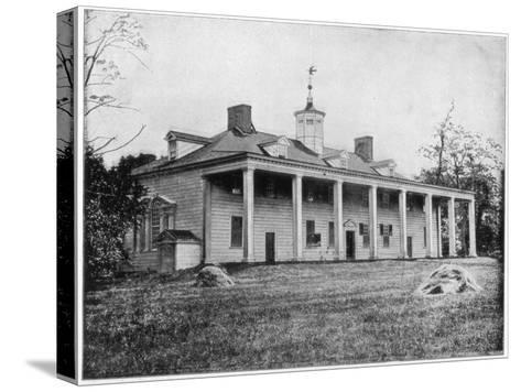 George Washington's Home, Mount Vernon, Virginia, Late 19th Century-John L Stoddard-Stretched Canvas Print