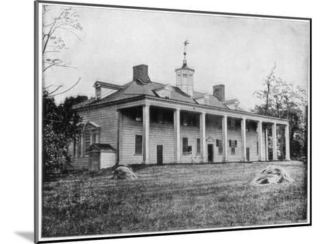 George Washington's Home, Mount Vernon, Virginia, Late 19th Century-John L Stoddard-Mounted Giclee Print
