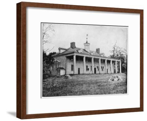 George Washington's Home, Mount Vernon, Virginia, Late 19th Century-John L Stoddard-Framed Art Print