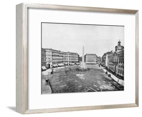 Puerta Del Sol, Madrid, Spain, Late 19th Century-John L Stoddard-Framed Art Print