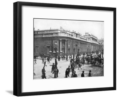 The Bank of England, London, Late 19th Century-John L Stoddard-Framed Art Print