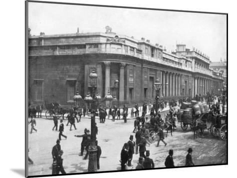 The Bank of England, London, Late 19th Century-John L Stoddard-Mounted Giclee Print