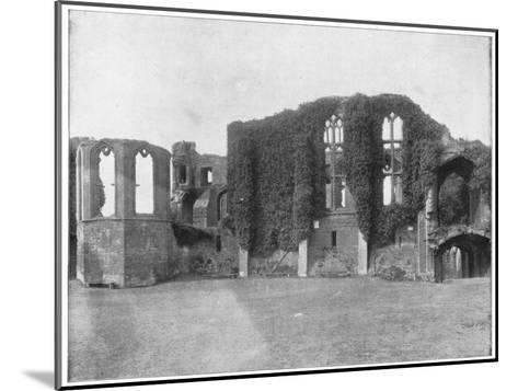 Kenilworth Castle, England, Late 19th Century-John L Stoddard-Mounted Giclee Print