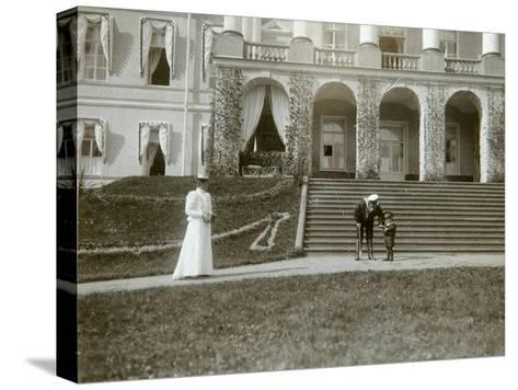 Tsarina Alexandra Fyodorovna with Tsarevich Alexei of Russia, C1907-C1910-K von Hahn-Stretched Canvas Print