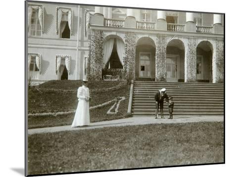Tsarina Alexandra Fyodorovna with Tsarevich Alexei of Russia, C1907-C1910-K von Hahn-Mounted Giclee Print
