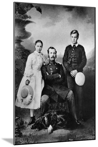 Tsar Alexander II of Russia with His Daughter Maria and Son Alexei, 1863-Ivan Fyodorovich Alexandrovsky-Mounted Giclee Print