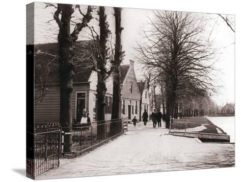 Canal Bank, Broek, Netherlands, 1898-James Batkin-Stretched Canvas Print