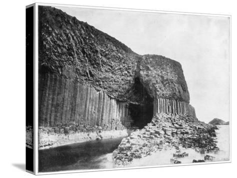 Fingal's Cave, Scotland, Late 19th Century-John L Stoddard-Stretched Canvas Print