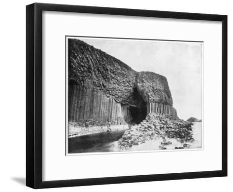 Fingal's Cave, Scotland, Late 19th Century-John L Stoddard-Framed Art Print