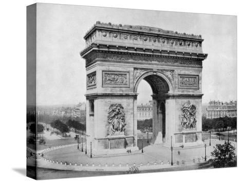 Arc De Triomphe, Paris, Late 19th Century-John L Stoddard-Stretched Canvas Print