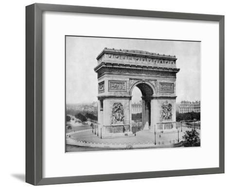 Arc De Triomphe, Paris, Late 19th Century-John L Stoddard-Framed Art Print
