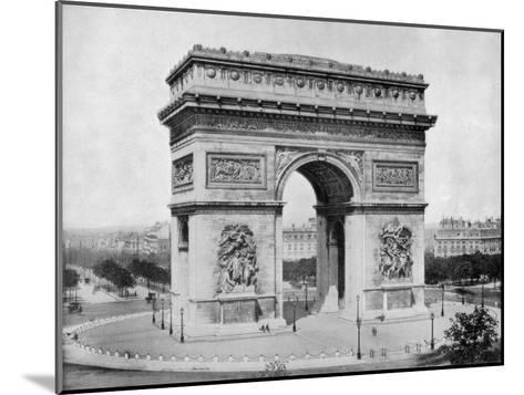 Arc De Triomphe, Paris, Late 19th Century-John L Stoddard-Mounted Giclee Print