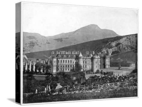 Holyrood Palace, Edinburgh, Scotland, Late 19th Century-John L Stoddard-Stretched Canvas Print