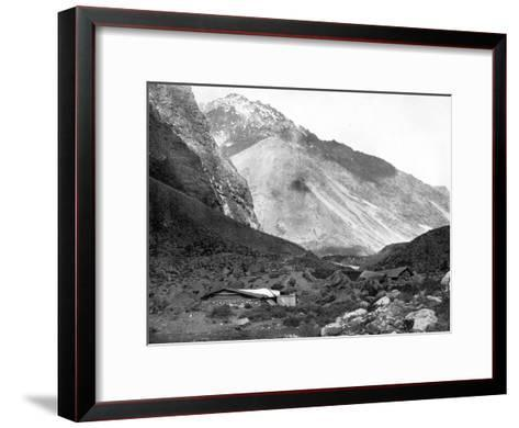 Pass of Uspallata, Andes Mountains, South America, 1893-John L Stoddard-Framed Art Print