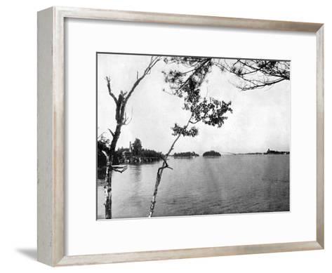 The Thousand Islands, St Lawrence River, Canada, 1893-John L Stoddard-Framed Art Print