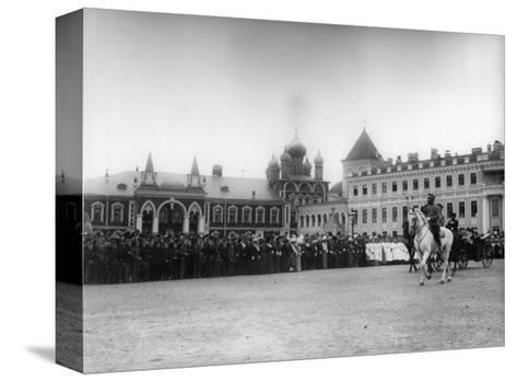 The Chudov Monastery in the Moscow Kremlin During the Visit of Tsar Nicholas II, 1912-K von Hahn-Stretched Canvas Print