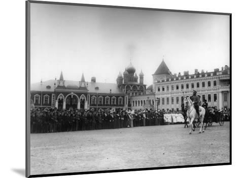 The Chudov Monastery in the Moscow Kremlin During the Visit of Tsar Nicholas II, 1912-K von Hahn-Mounted Giclee Print