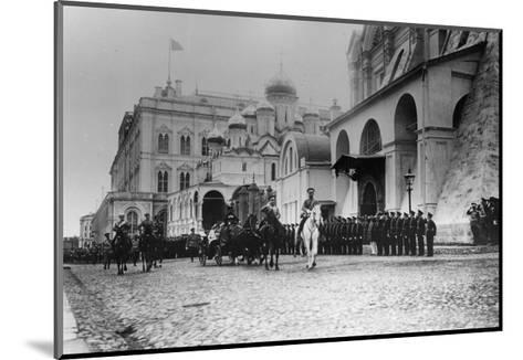 Tsar Nicholas II Reviewing the Parade of the Pupils of Moscow in the Kremlin, Russia, 1912-K von Hahn-Mounted Giclee Print