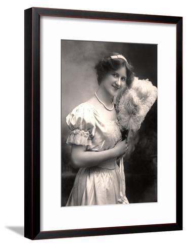 Nina Sevening, British Actress, Early 20th Century- Lemeilleur-Framed Art Print