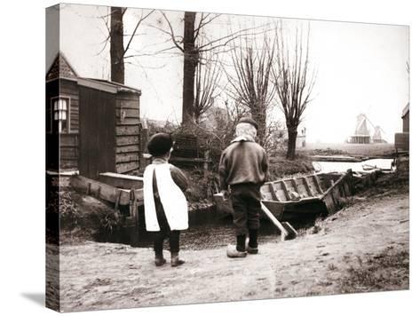 Children, Laandam, Netherlands, 1898-James Batkin-Stretched Canvas Print