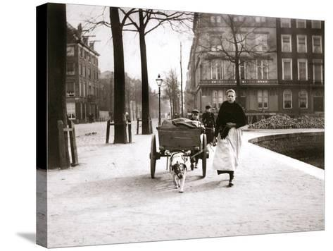 Woman with Dogcart, Rotterdam, 1898-James Batkin-Stretched Canvas Print