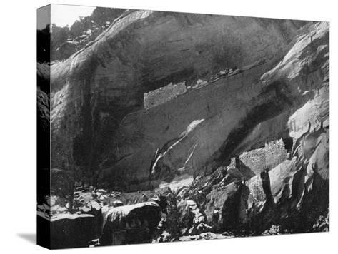 Cliff Dwellings, Mancos Canyon, Arizona, USA, 1893-John L Stoddard-Stretched Canvas Print