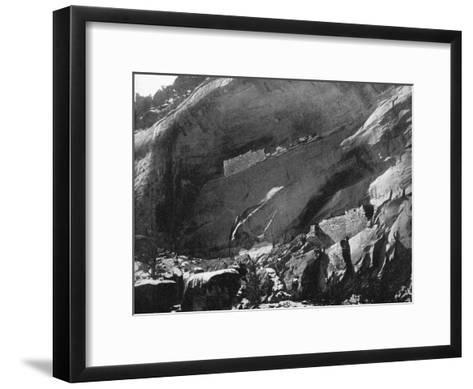 Cliff Dwellings, Mancos Canyon, Arizona, USA, 1893-John L Stoddard-Framed Art Print