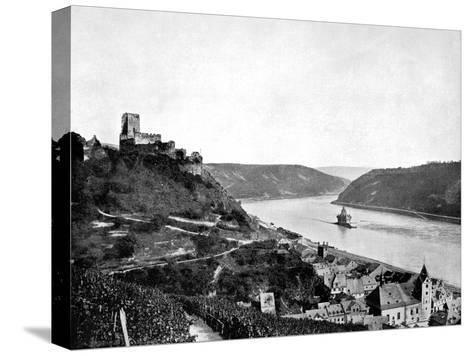 The Rhine, Gutenfels, and the Pfalz, Germany, 1893-John L Stoddard-Stretched Canvas Print