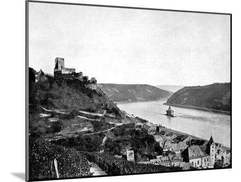 The Rhine, Gutenfels, and the Pfalz, Germany, 1893-John L Stoddard-Mounted Giclee Print