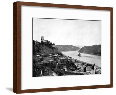 The Rhine, Gutenfels, and the Pfalz, Germany, 1893-John L Stoddard-Framed Art Print