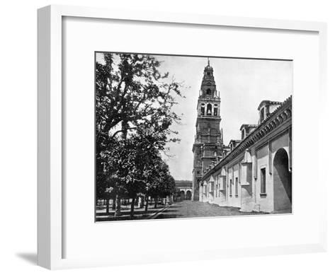 Court of Oranges and Mosque, Cordoba, Spain, 1893-John L Stoddard-Framed Art Print