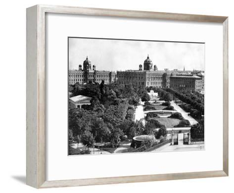 Volksgarten and Theseum, Vienna, Austria, 1893-John L Stoddard-Framed Art Print