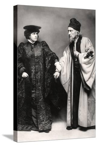 Gertude Elliott and Johnston Forbes-Robertson in the Merchant of Venice, Early 20th Century-Lizzie Caswall Smith-Stretched Canvas Print