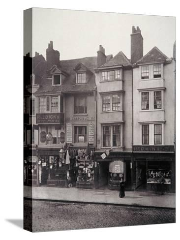 View of Houses and Shop Fronts in Borough High Street, Southwark, London, 1881-Henry Dixon-Stretched Canvas Print