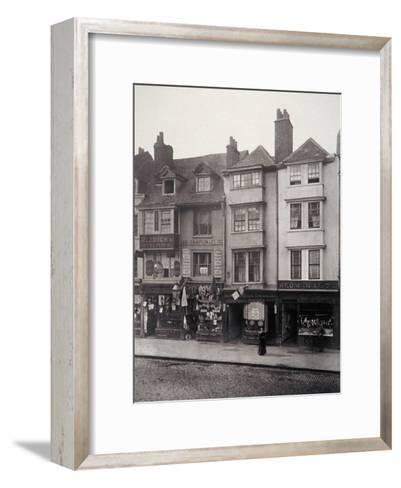 View of Houses and Shop Fronts in Borough High Street, Southwark, London, 1881-Henry Dixon-Framed Art Print
