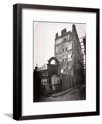 View of Premises in Addle Street, Destroyed by Fire, City of London, 1883-Henry Dixon-Framed Art Print