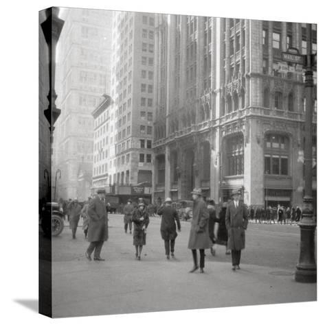 Lower Broadway, New York City, USA, 20th Century-J Dearden Holmes-Stretched Canvas Print