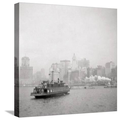 New York City from the River, USA, 20th Century-J Dearden Holmes-Stretched Canvas Print