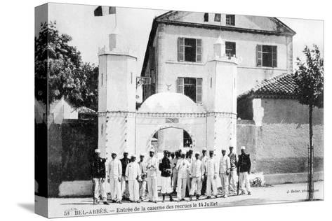 Barracks of the Recruits, French Foreign Legion, Sidi Bel Abbes, Algeria, 14 July 1906-J Geiser-Stretched Canvas Print