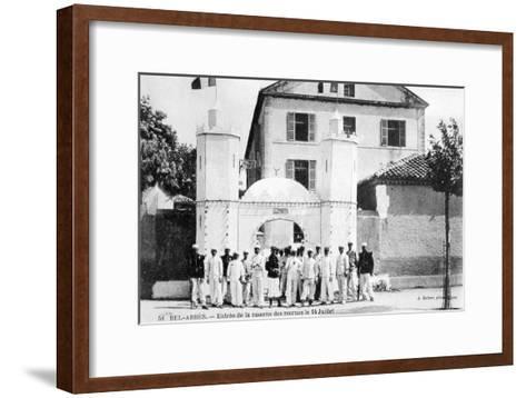Barracks of the Recruits, French Foreign Legion, Sidi Bel Abbes, Algeria, 14 July 1906-J Geiser-Framed Art Print